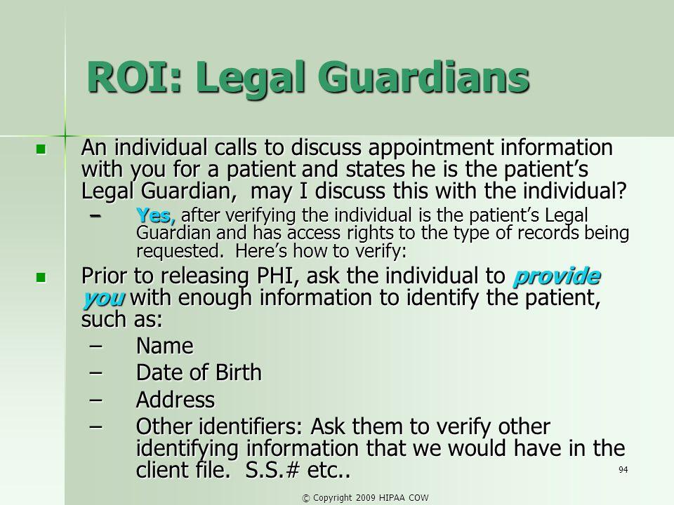 ROI: Legal Guardians
