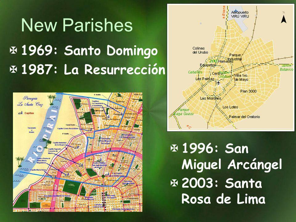 New Parishes 1969: Santo Domingo 1987: La Resurrección