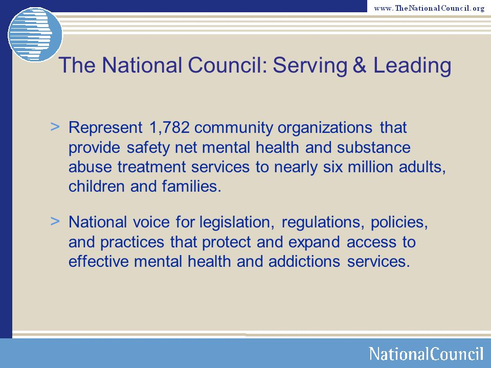 The National Council: Serving & Leading