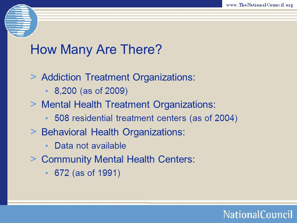How Many Are There Addiction Treatment Organizations: