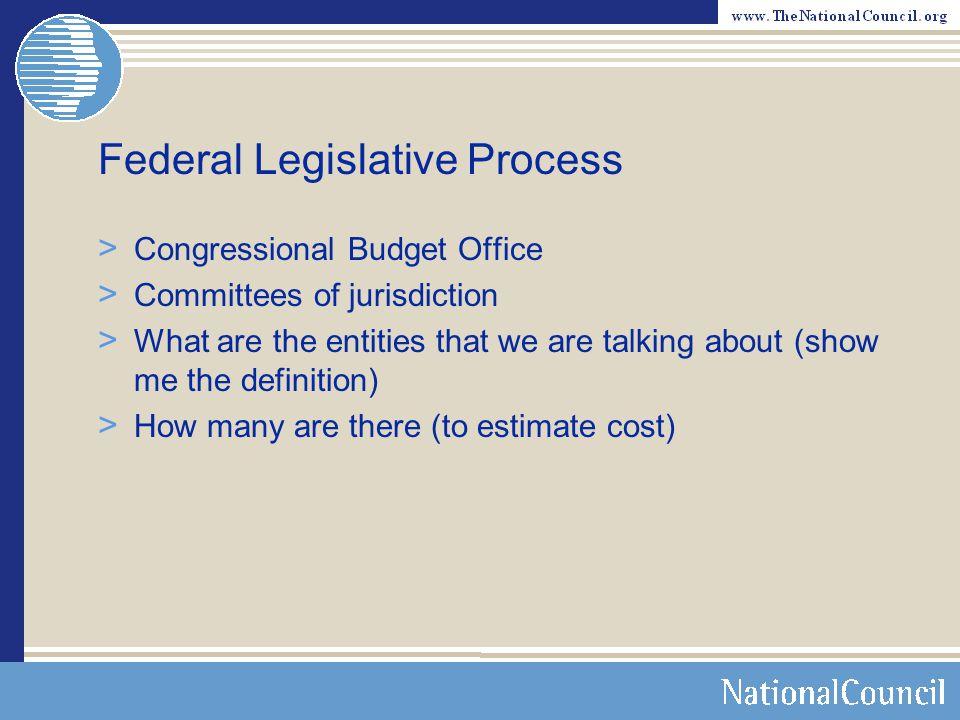 Federal Legislative Process