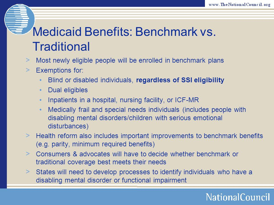 Medicaid Benefits: Benchmark vs. Traditional