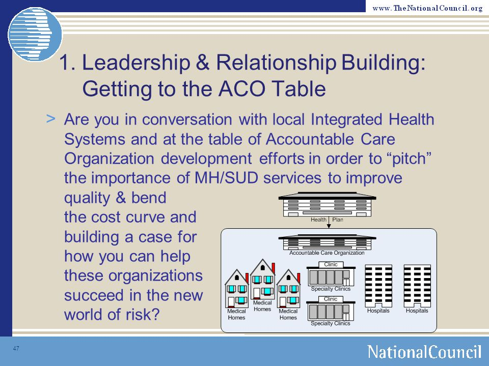 1. Leadership & Relationship Building: Getting to the ACO Table