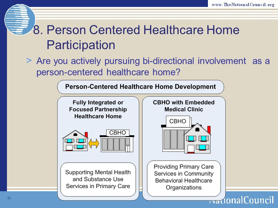 8. Person Centered Healthcare Home Participation