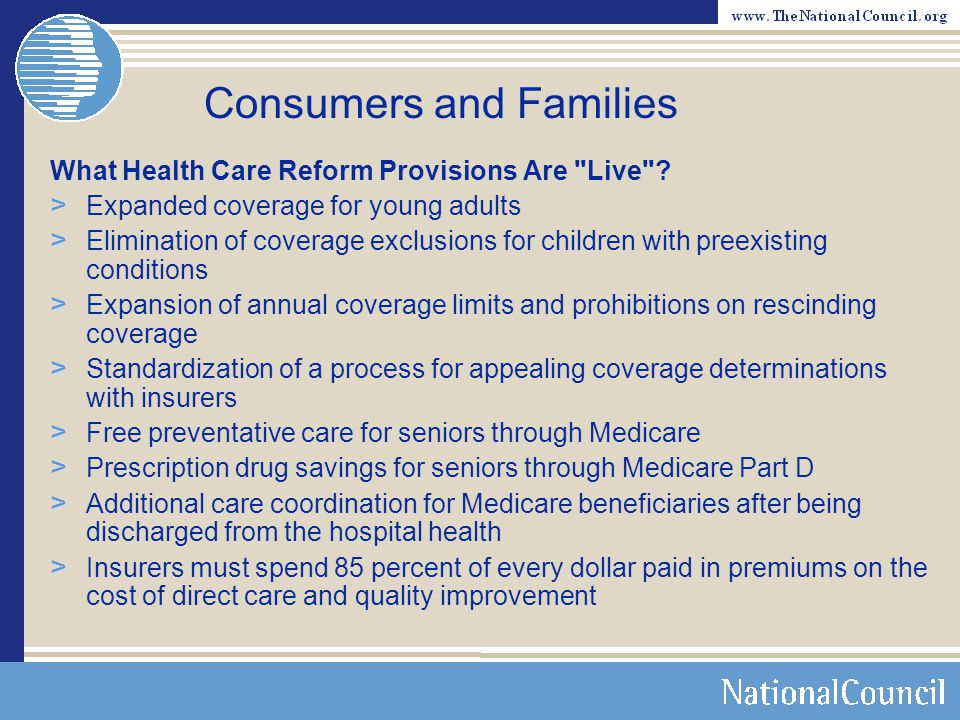 Consumers and Families