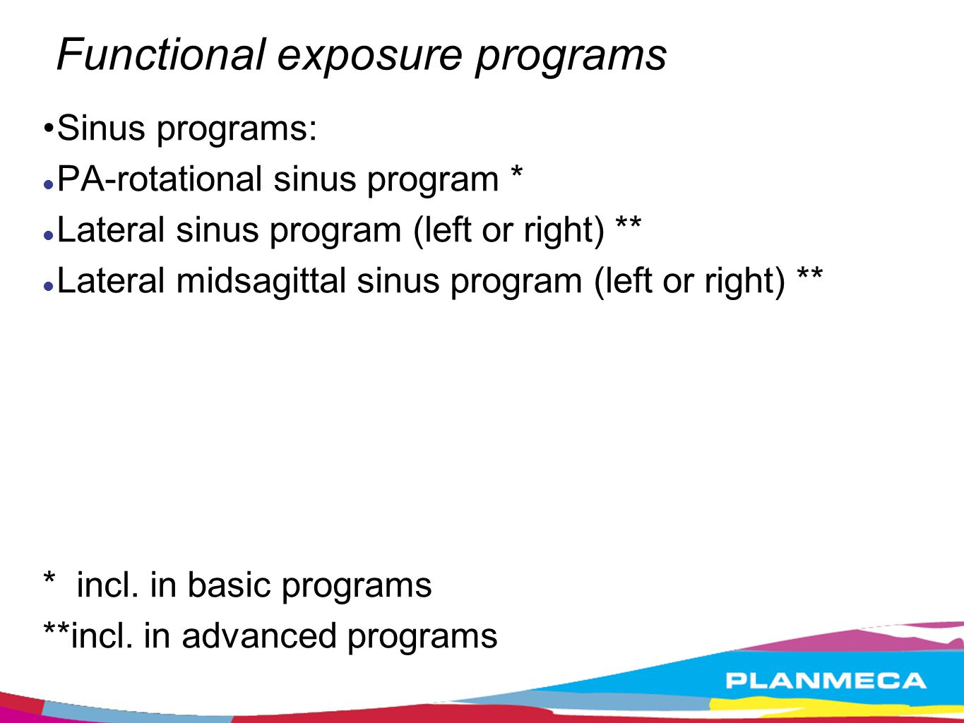 Functional exposure programs