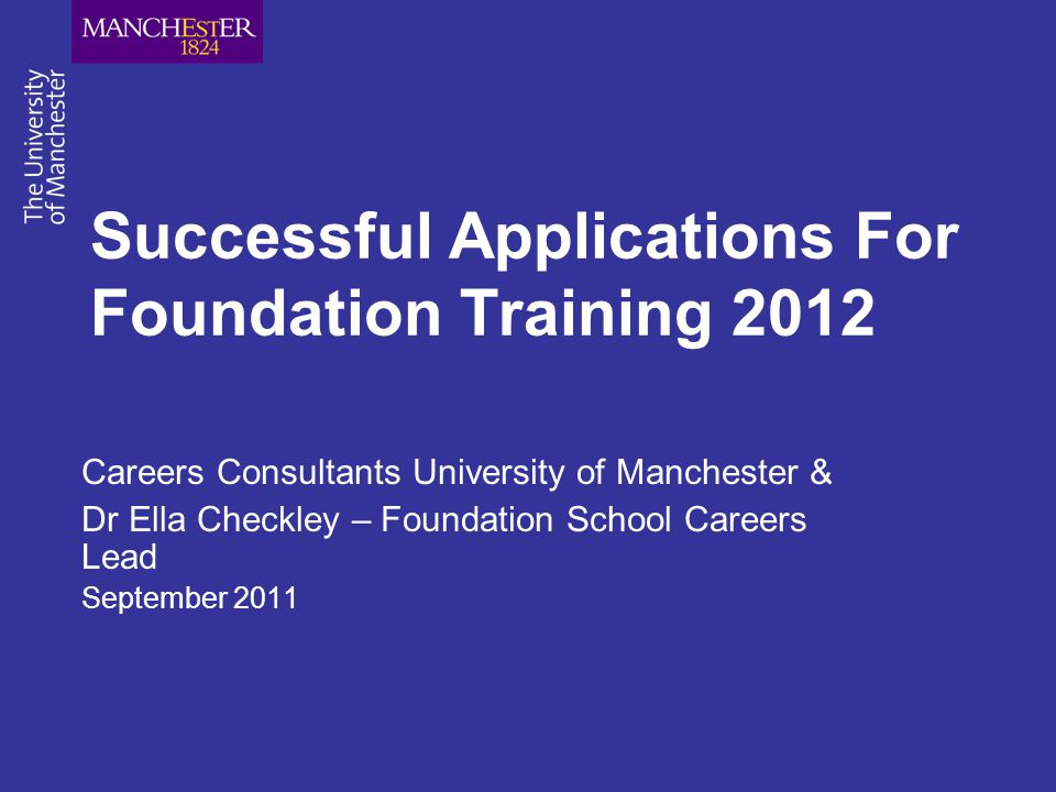 Successful Applications For Foundation Training 2012