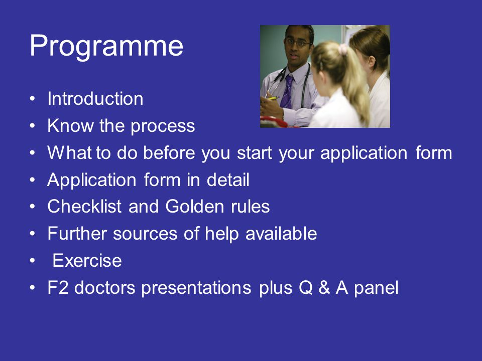 Programme Introduction Know the process