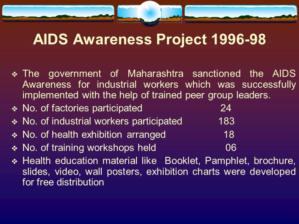 AIDS Awareness Project 1996-98