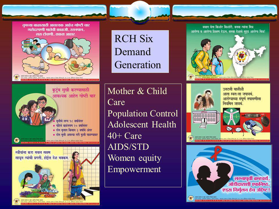 RCH Six Demand Generation Mother & Child Care Population Control