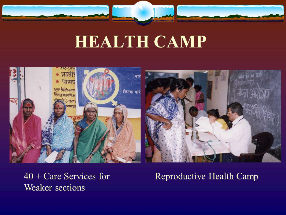 HEALTH CAMP 40 + Care Services for Weaker sections