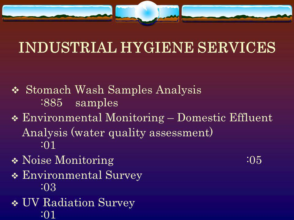 INDUSTRIAL HYGIENE SERVICES