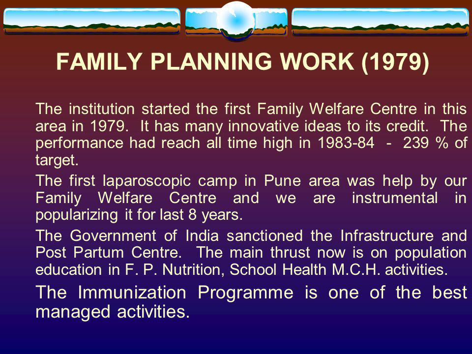 FAMILY PLANNING WORK (1979)