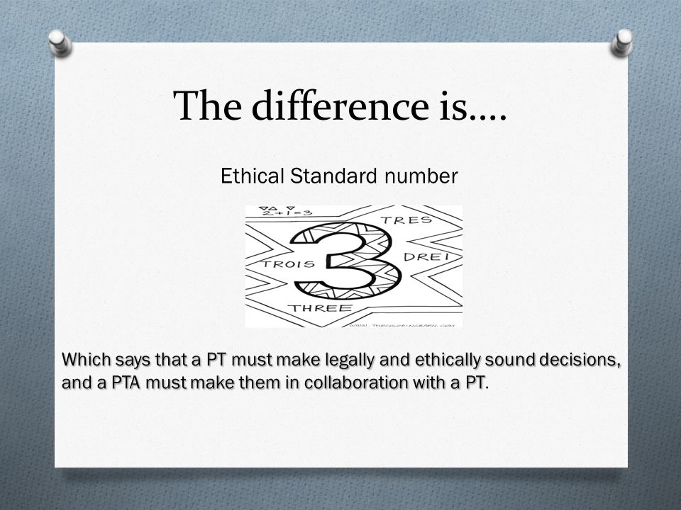 Ethical Standard number