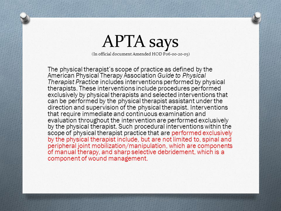 APTA says (In official document Amended HOD P06-00-20-05)