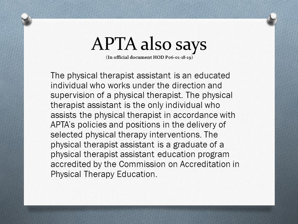 APTA also says (In official document HOD P06-01-18-19)