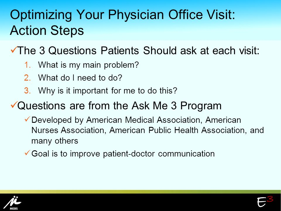 Optimizing Your Physician Office Visit: Action Steps