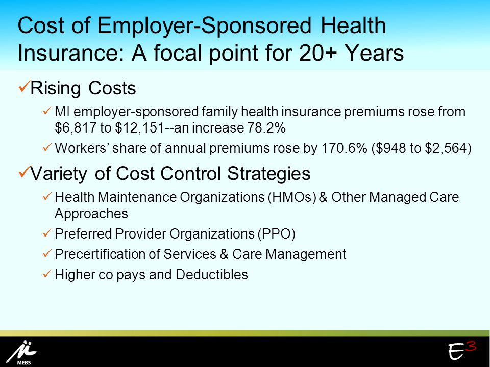 Cost of Employer-Sponsored Health Insurance: A focal point for 20+ Years