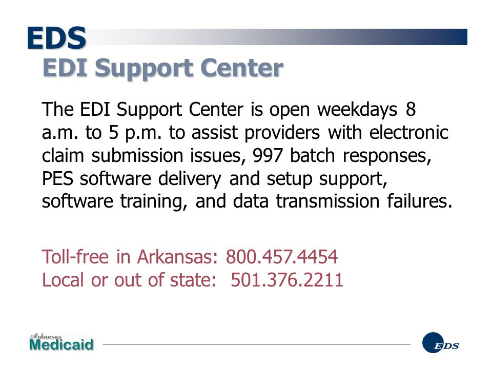 EDS EDI Support Center.
