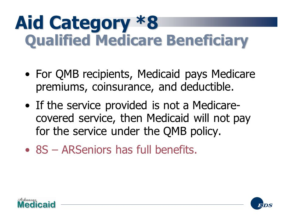 Aid Category *8 Qualified Medicare Beneficiary