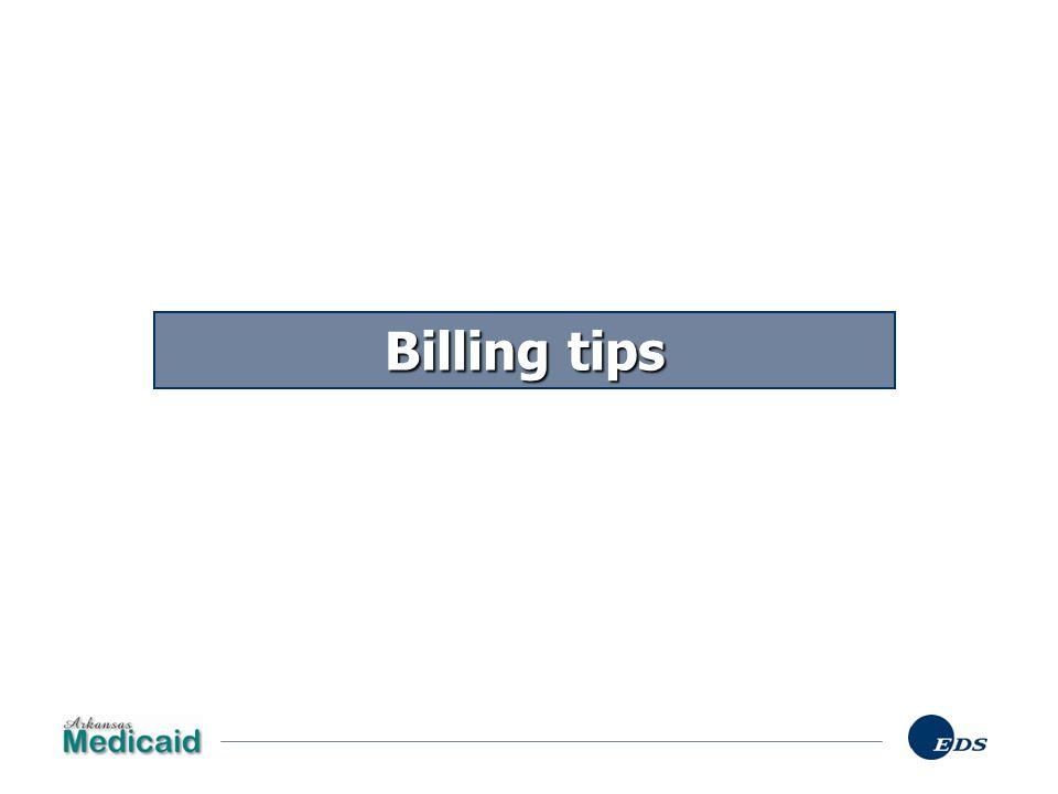 Billing tips Billing tips…