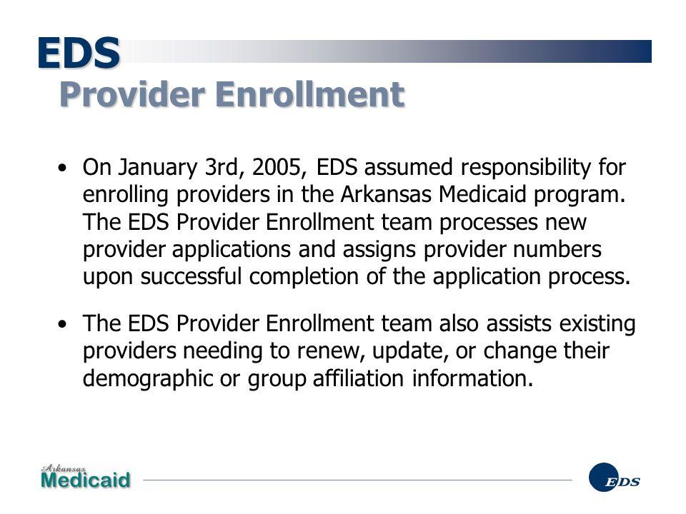 EDS Provider Enrollment