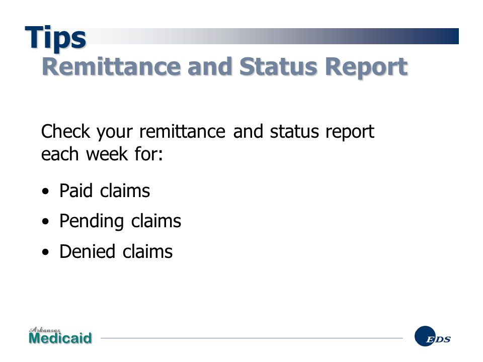 Tips Remittance and Status Report
