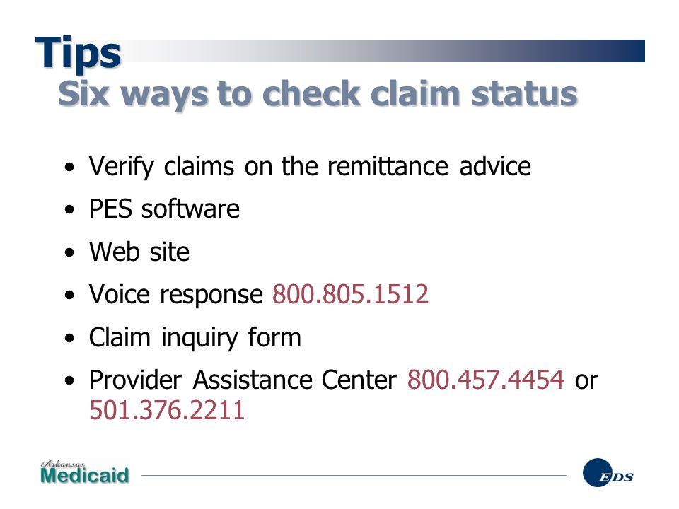 Tips Six ways to check claim status
