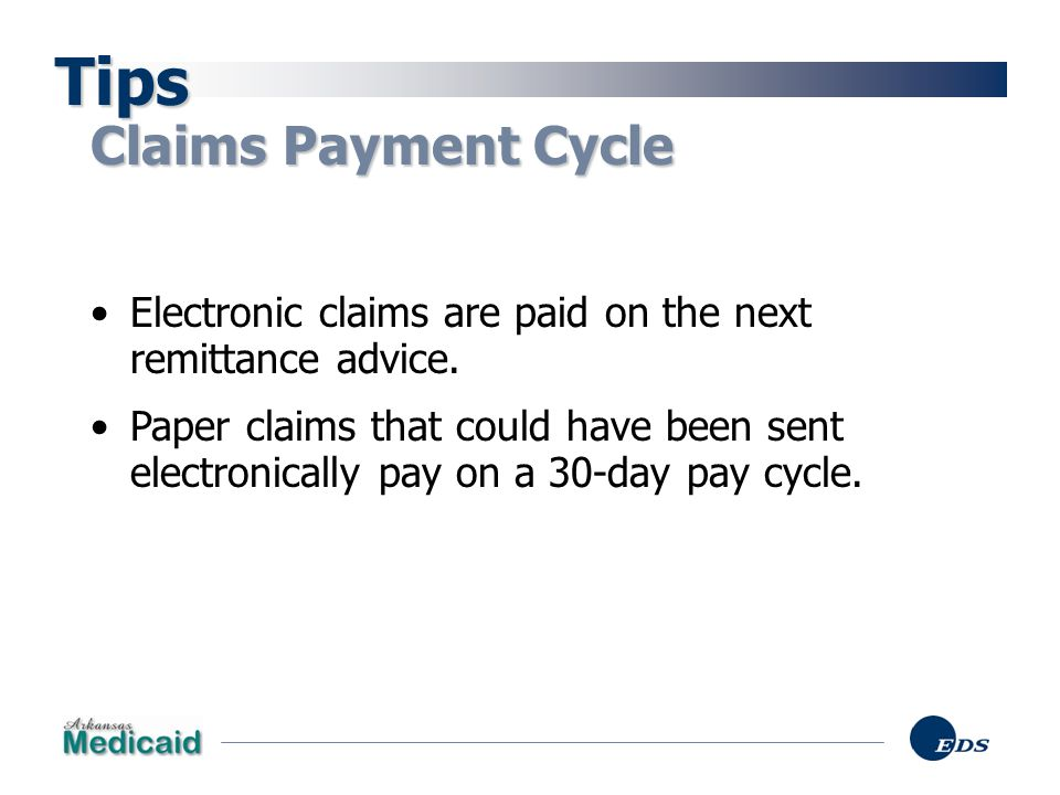 Tips Claims Payment Cycle