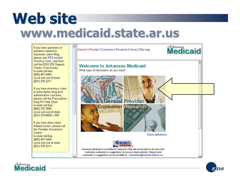 Web site www.medicaid.state.ar.us