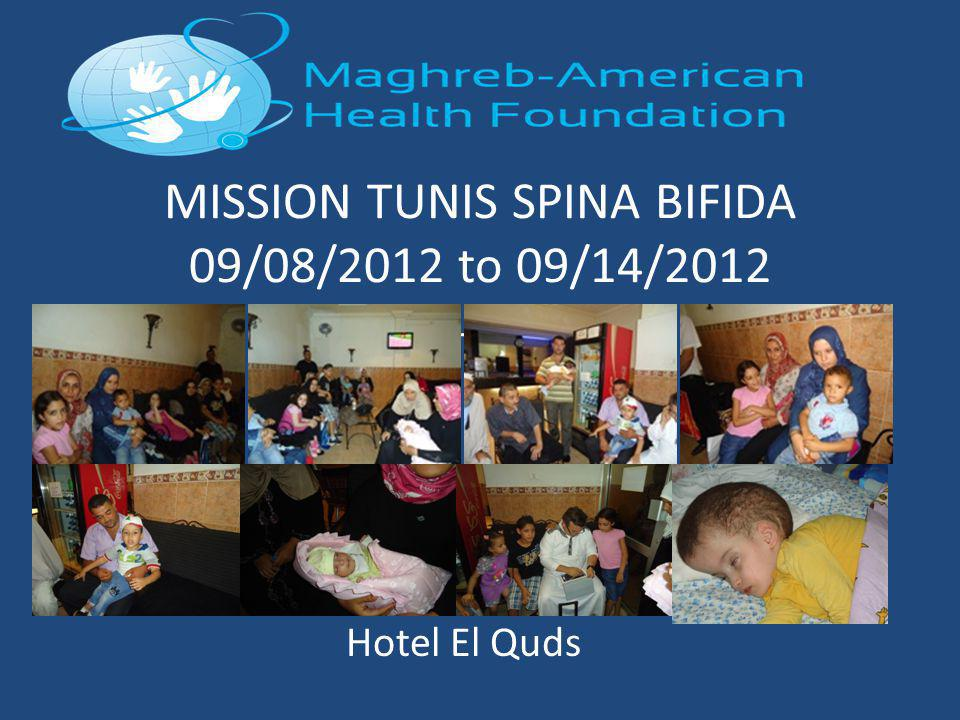 MISSION TUNIS SPINA BIFIDA 09/08/2012 to 09/14/2012