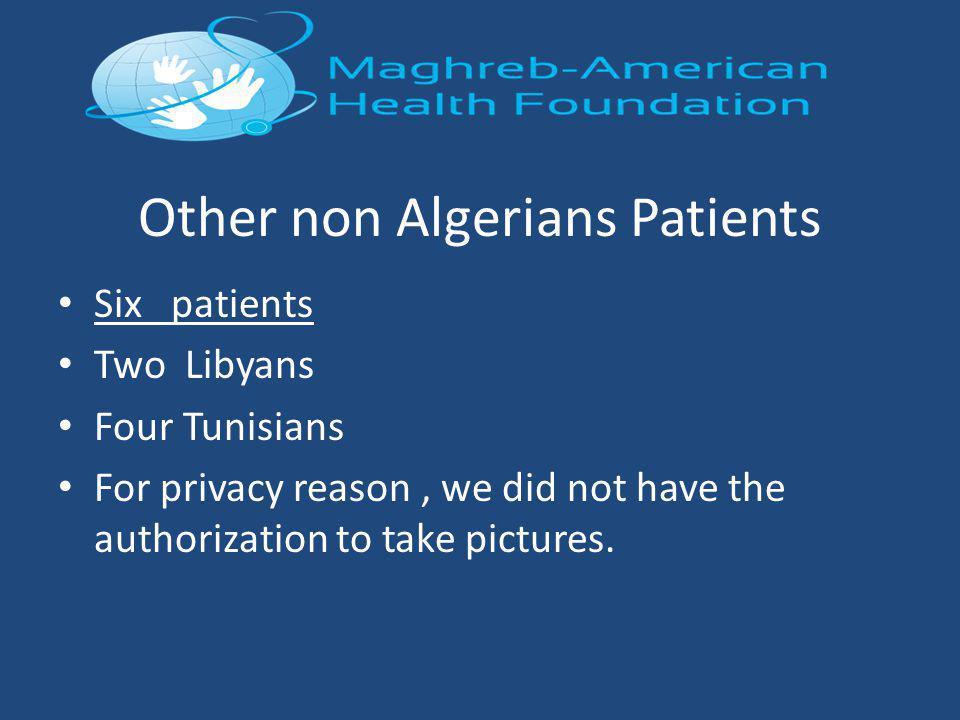 Other non Algerians Patients