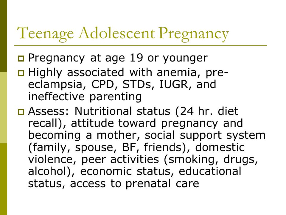 Teenage Adolescent Pregnancy