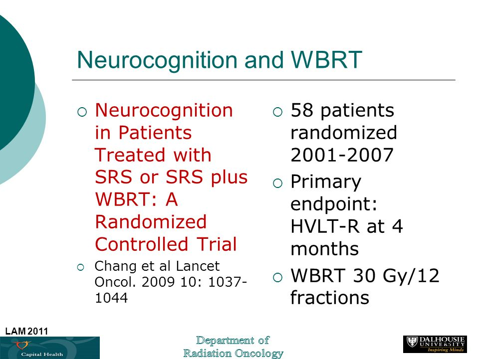 Neurocognition and WBRT