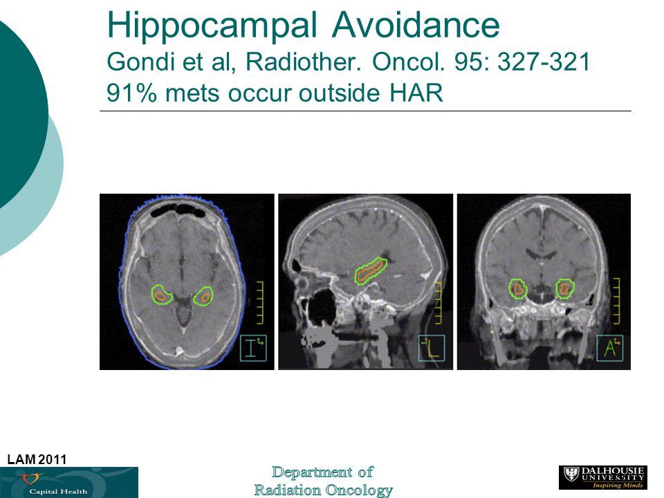 Hippocampal Avoidance Gondi et al, Radiother. Oncol