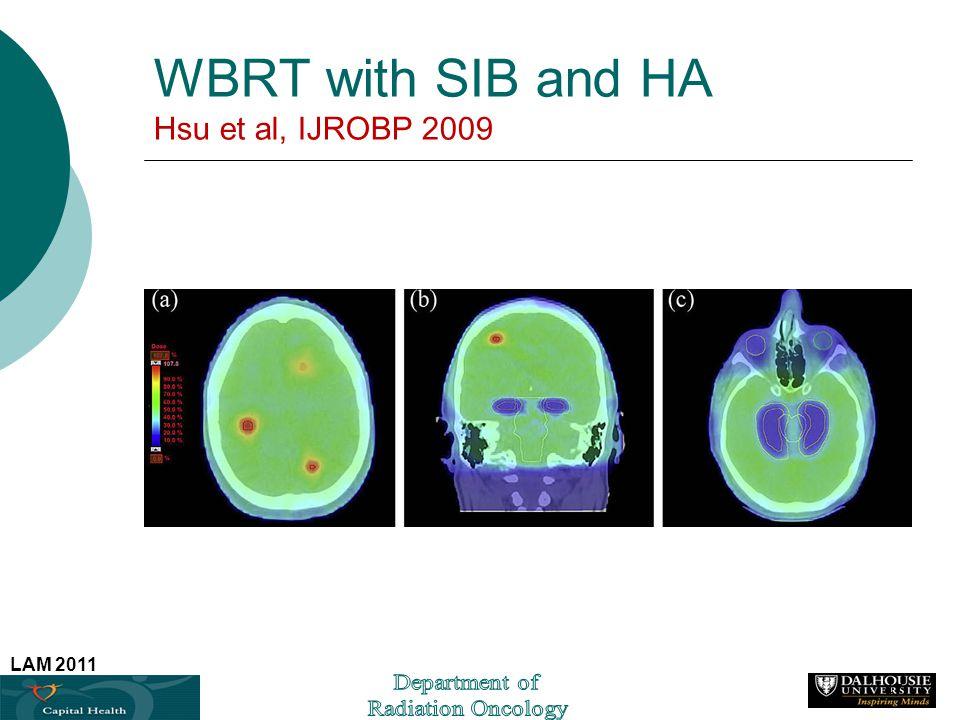 WBRT with SIB and HA Hsu et al, IJROBP 2009