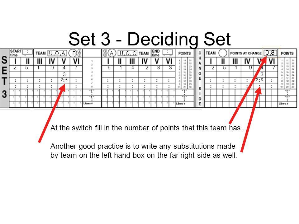 Set 3 - Deciding Set 0 8. U O A. B. A. U O C. 2. 5. 1. 9. 4. 7. 9. 1. 4. 2. 8. 3.