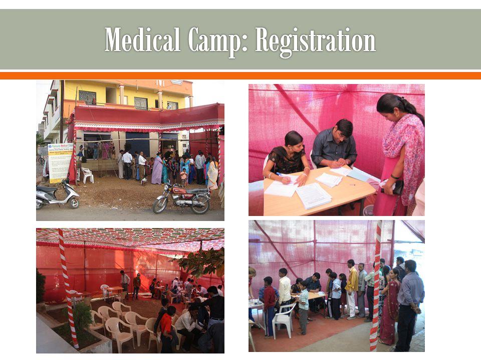 Medical Camp: Registration