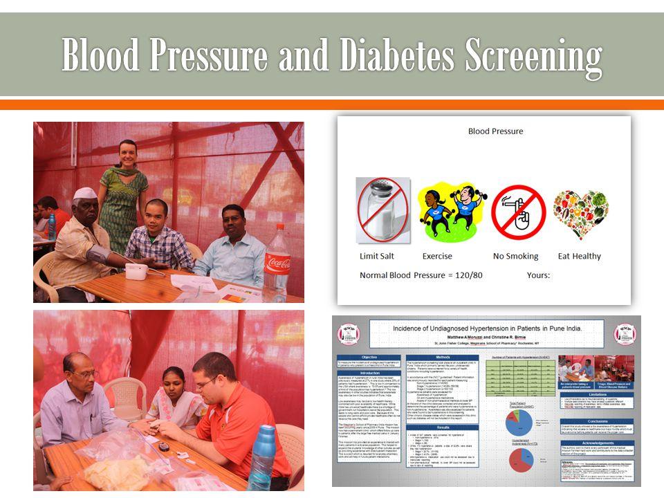 Blood Pressure and Diabetes Screening