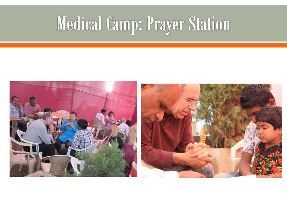 Medical Camp: Prayer Station