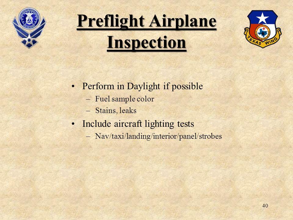 Preflight Airplane Inspection