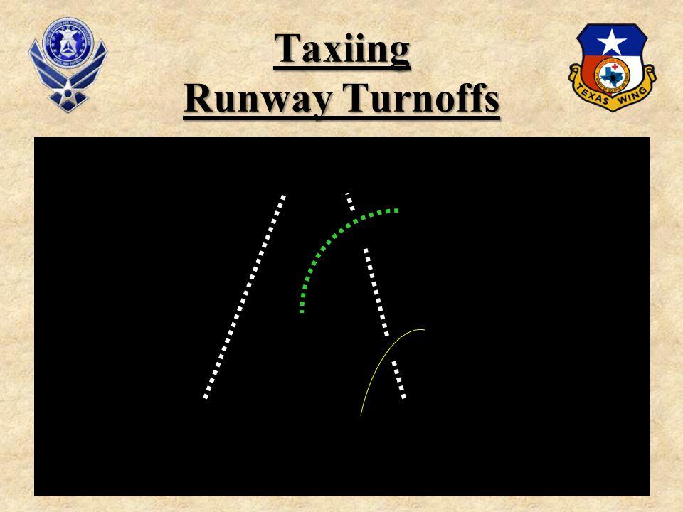 Taxiing Runway Turnoffs