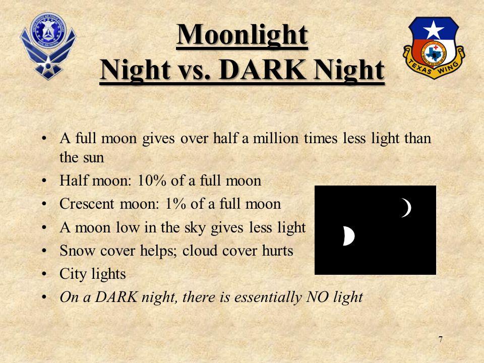 Moonlight Night vs. DARK Night