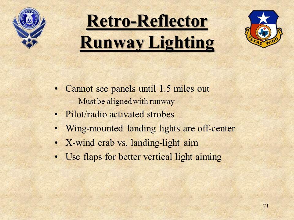 Retro Reflector Runway Lighting