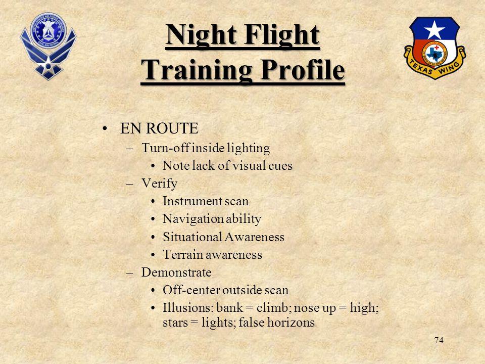 Night Flight Training Profile
