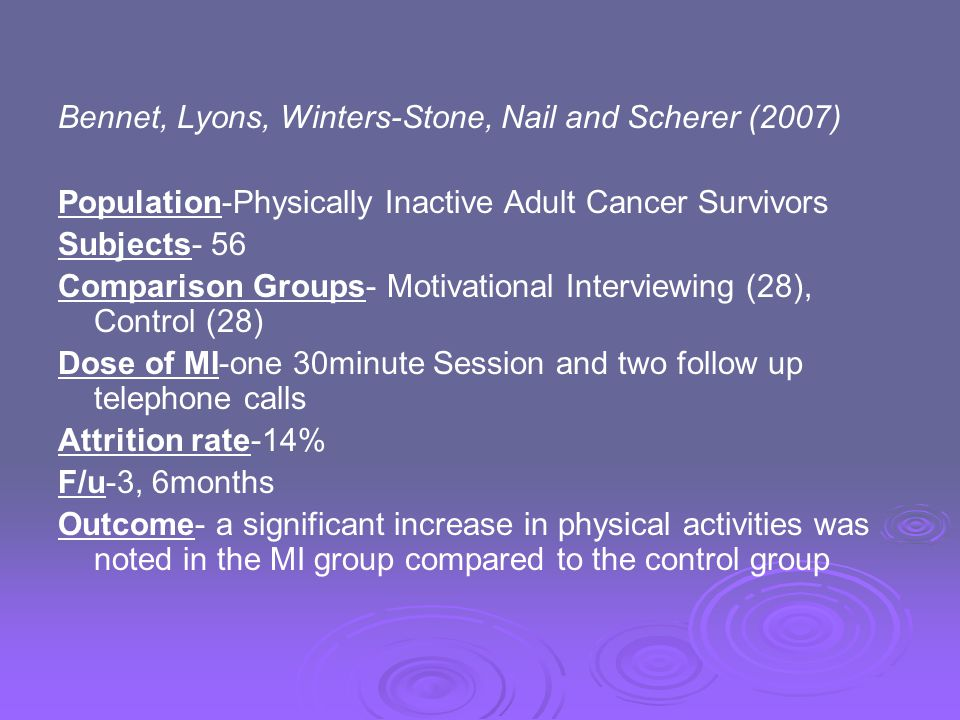 Bennet, Lyons, Winters-Stone, Nail and Scherer (2007)