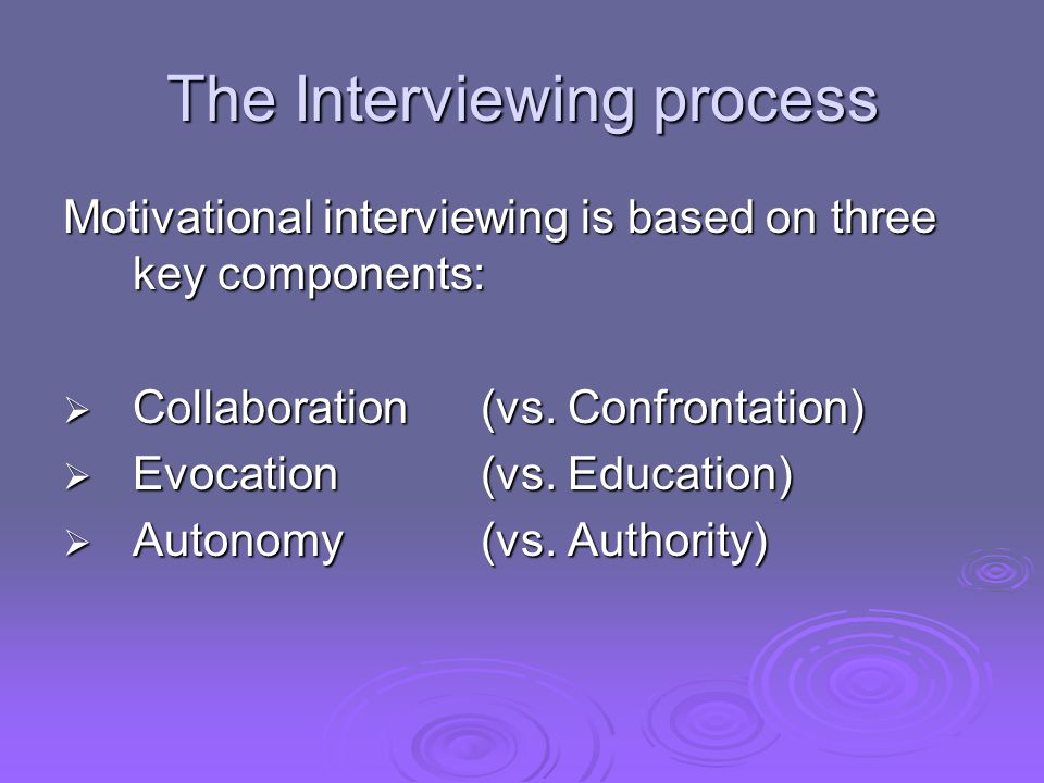 The Interviewing process