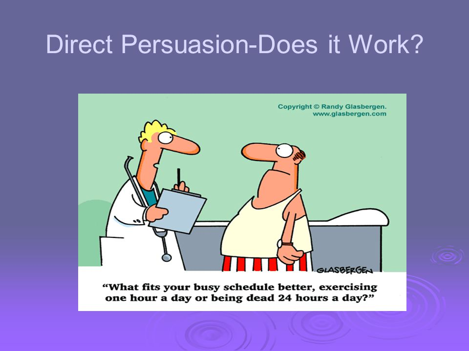 Direct Persuasion-Does it Work