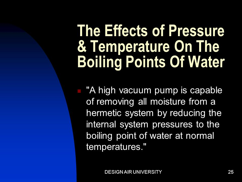 The Effects of Pressure & Temperature On The Boiling Points Of Water