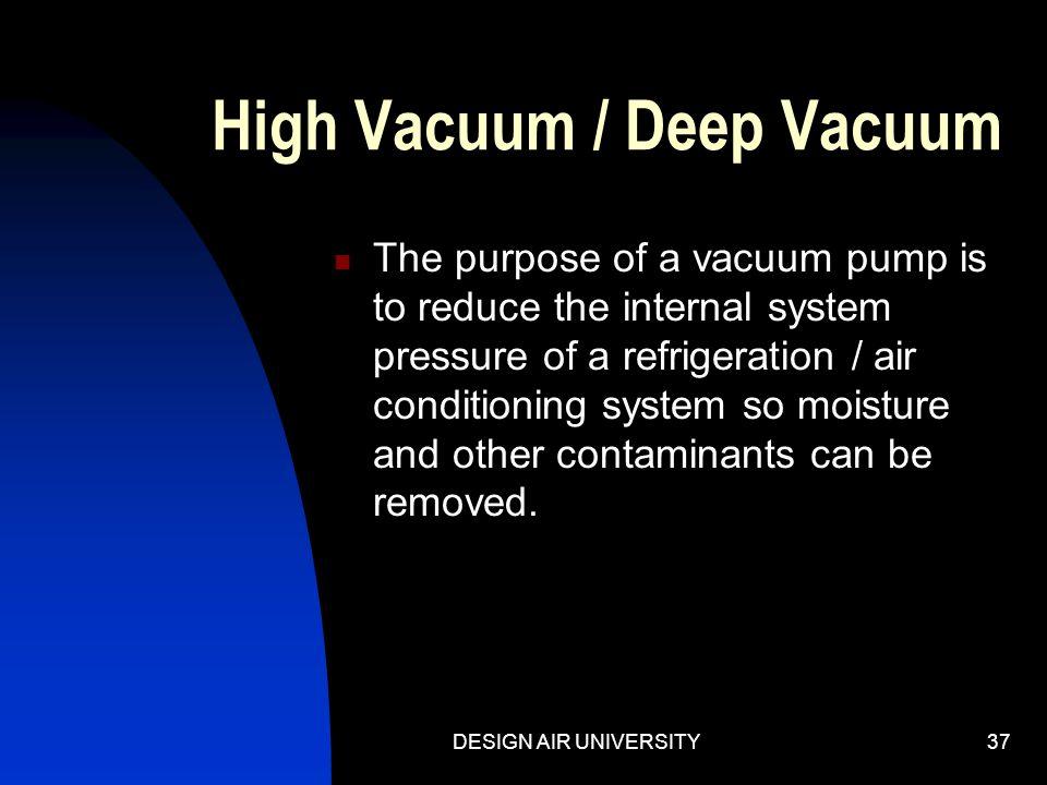 High Vacuum / Deep Vacuum